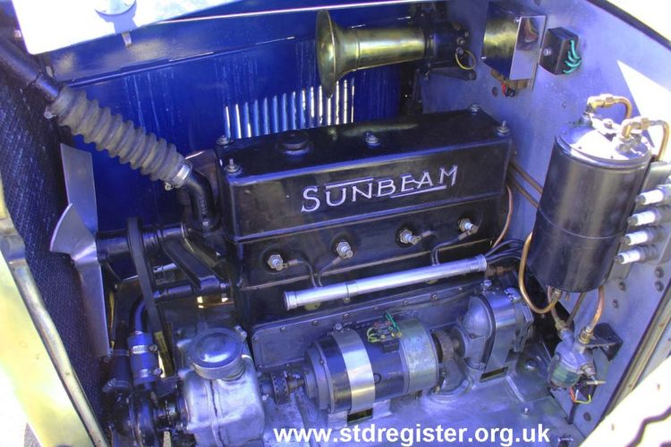 Engine of the 1926 Sunbeam 14~40hp