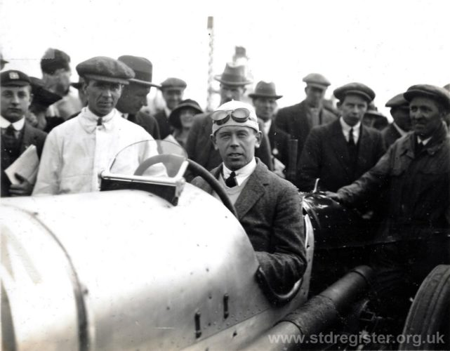 K. Lee-Guinness on the 1920 350hp Land Speed Record Sunbeam