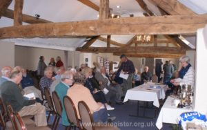 Members seen gathering for the 2019 AGM which was held at a hotel in Alcester, near Stratford.