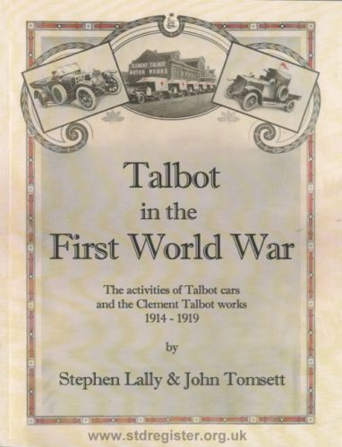 Talbot in the First World War - 2nd Edition Nov 2018.