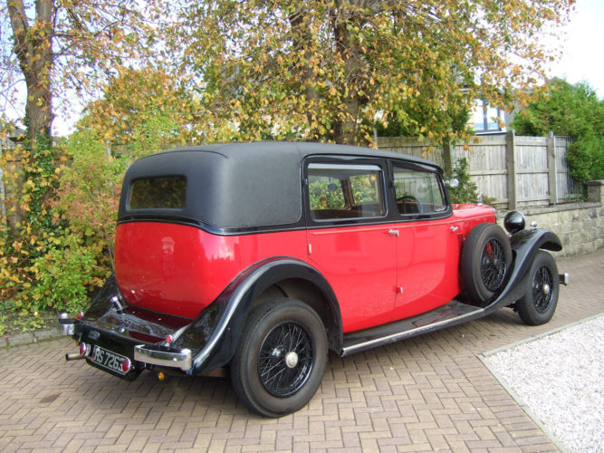 1933 Sunbeam Twenty Five limousine