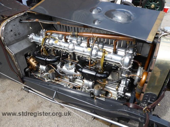 The immaculate Sunbeam 3 litre engine of Erez Yardeni at Brooklands 2016
