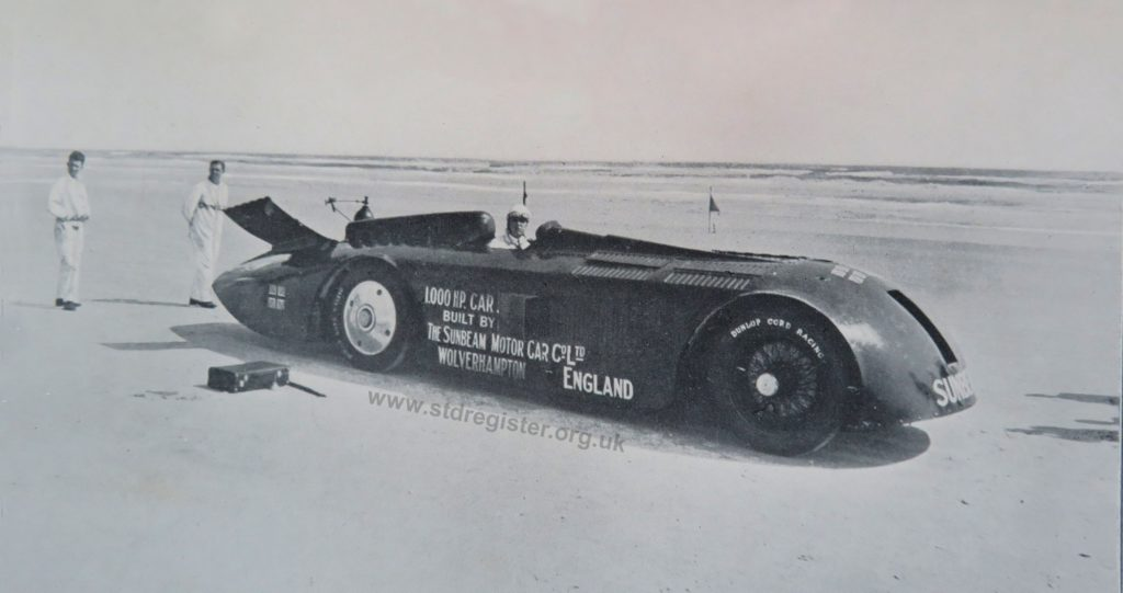 THE THOUSAND HORSE POWER SUNBEAM ON THE SANDS AT DAYTONA